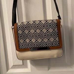 Black and Cream Apt. 9 Crossbody with Gold Accents